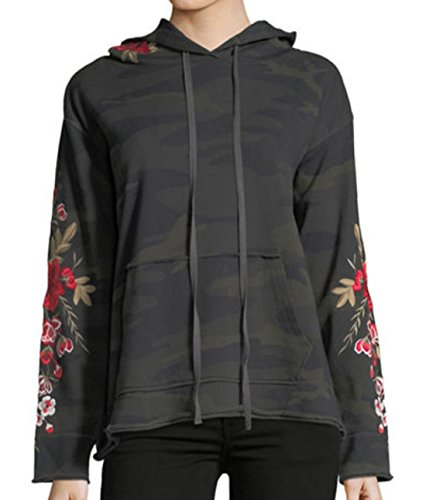 Johnny Was Women's Forrest Camo Meri Pull On Hoodie by Johnny Was