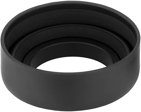3 Pack Sensei 52mm 3-in-1 Collapsible Rubber Lens Hood for 28mm to 300mm Lenses