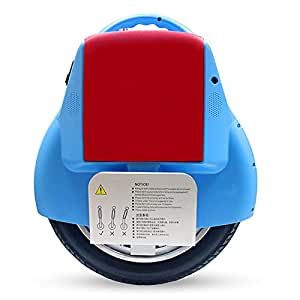 Muzeli Self-balancing Electric Unicycle Scooter with Bluetooth Speaker, and Controller (Blue)