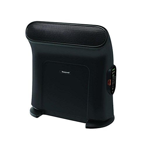 Electric Portable Heater Ceramic 1500-Watt with EnergySmart Technology and ThermaWave, Ergonomic Design in Black Ceramic Heaters Honeywell EnergySmart