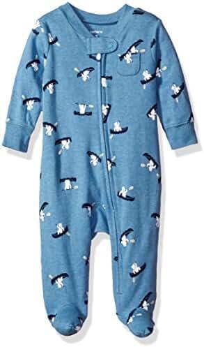 Carter's Baby Boys' Cotton Zip-Up Sleep & Play
