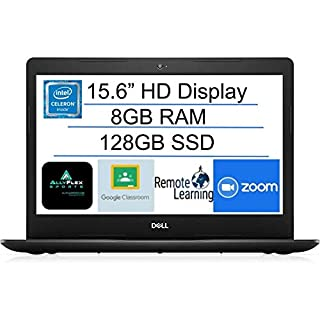 "2020 Newest Dell Inspiron 15 Business Laptop Computer: 15.6"" HD NON-TOUCH Display, Intel 4205U 1.8GHz Processor, 8GB RAM, 128GB PCIe SSD,WiFi, Bluetooth, HDMI, Webcam, Windows 10 in S Mode, AllyFlexMP"