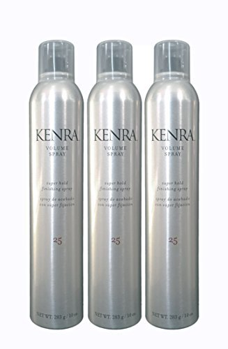 Kenra Volume Spray 25 Super Hold Finishing Spray 10 Oz 3 Pack