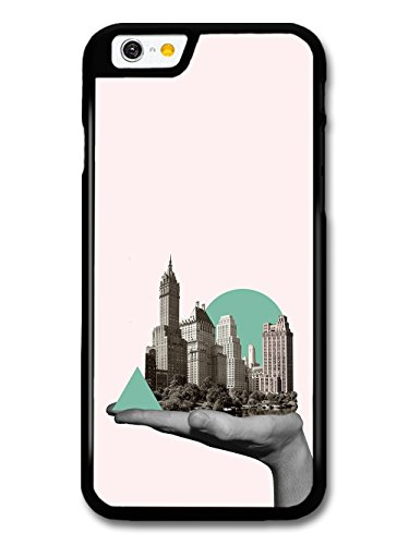 City in a Hand Photo Collage with Cool Hipster Shapes case for iPhone 6 6S