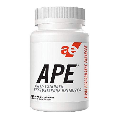 APE Testosterone Booster, Optimizer & Anti-Estrogen - Maximize Testosterone Production, Enhance Nitric Oxide, and Increase Muscular Endurance & Fullness, Stamina, Energy, & Strength - 80 - Maximize Testosterone