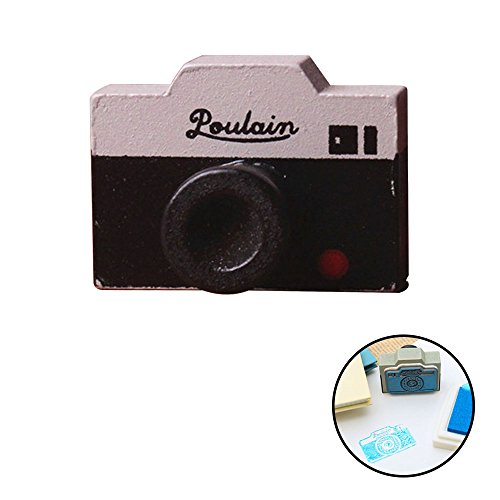 (Classic Mini Retro Camera shape Stamp For Friend decorate Travel envelope postcard Notebook Scrapbook Paper Craft Projects gift)