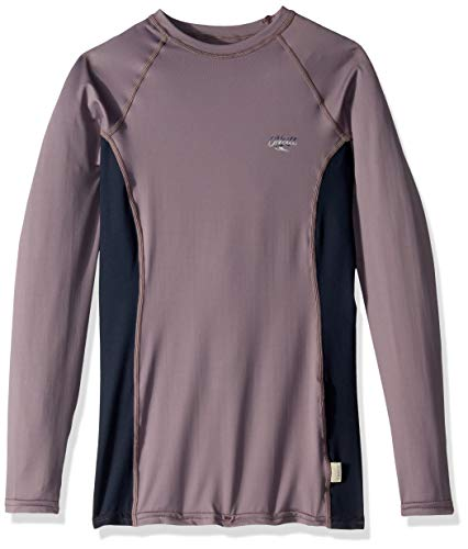 (O'Neill Wetsuits Women's Premium Skins UPF 50+ Long Sleeve Rash Guard, Dusk/Abyss/Dusk, Small)