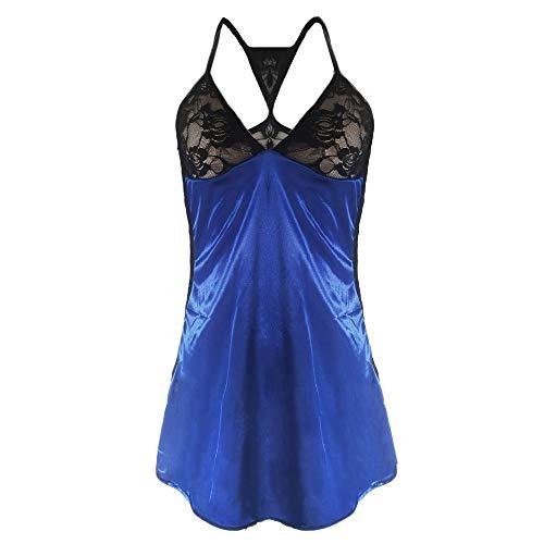 TOTOD Lingerie Women's Sexy Front Closure Babydoll Lace Chemise V Neck Mesh Pajamas Sleepwear]()