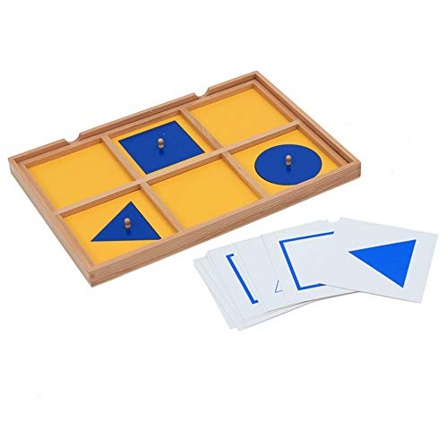 Baby Toy Montessori Six Case Cabinet Wood Geometric Demonstration Tray Early Childhood Education Preschool Brinquedos Juguetes