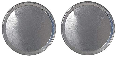 Durable Packaging Disposable Aluminum Round Flat Serving Tray, 16'' (Pack of 25) (2-(Pack))