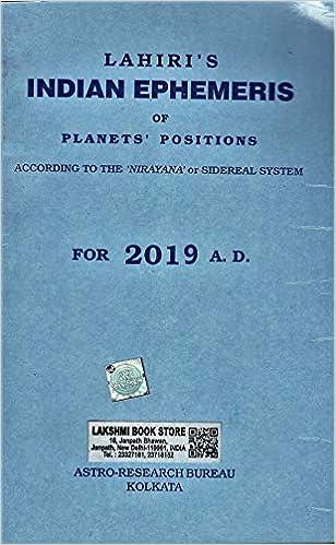 Lahiri Indian Ephemeris 2019: Amazon in: N C Lahiri / A K Lahiri