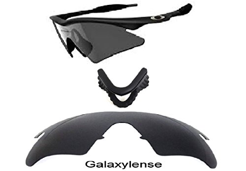 dcb93b5f6ec8 Galleon - Galaxy Replacement Lenses + Nose Pad For Oakley M Frame Heater  Black Color