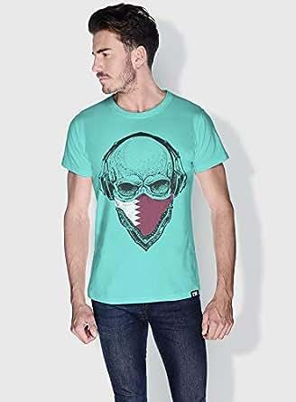 Creo Qatar Skull T-Shirts For Men - M, Green