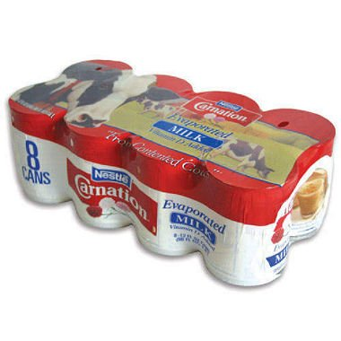 Carnation Evaporated Milk (12 oz. cans, 8 pk.) (pack of 2)