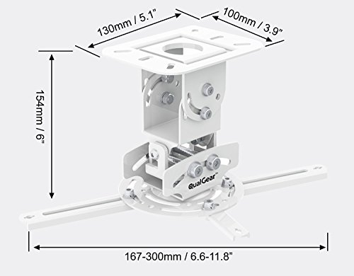 QualGear PRB-717-WHT Universal Ceiling Mount Projector Accessory