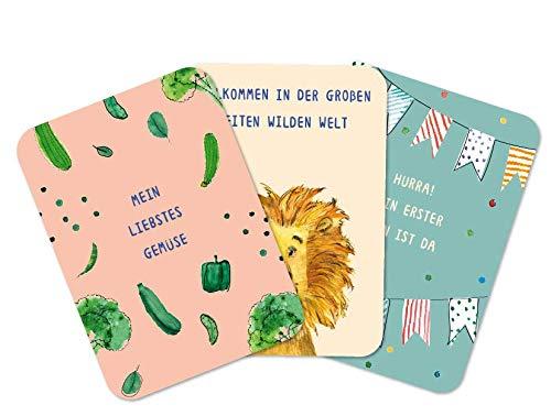 Lebensjahr Milestone Baby Karten f/ür besondere Momente im 1 Beikost Edition