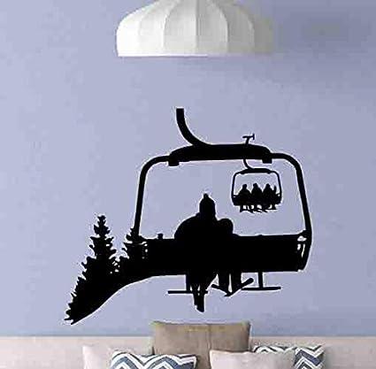 Amazon Com Ski Lift Wall Decal Ski Lift Chair Poster