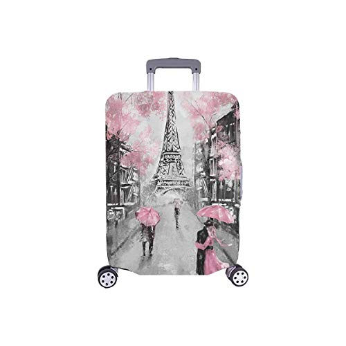 "InterestPrint European France Paris Eiffel Tower Travel Luggage Cover Suitcase Protector Fits 26""-28"" Luggage"