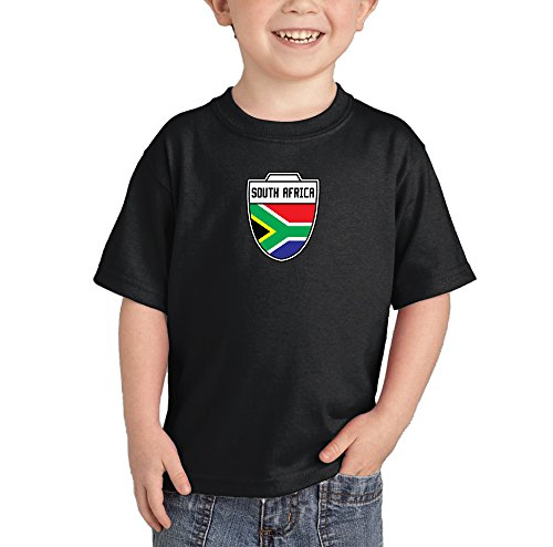 fan products of Toddler/Infant South Africa - African - Soccer T-shirt (5T, BLACK)