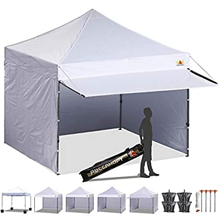 97794025f3d ABCCANOPY 10x10 Pop up Canopy Tent Instant Shelter Commercial Portable  Market Canopy with 4 Removable Zipper End Side Walls & Wheeled Bag, Bonus 4  Sand Bags ...