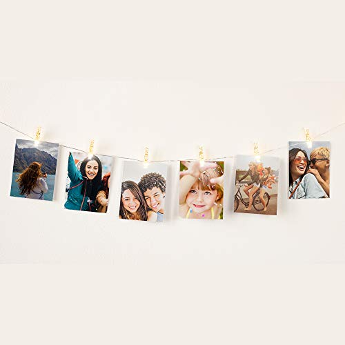 HP Sprocket Light String with Clips - LED Light String with Movable Clips for Hanging Photos ()