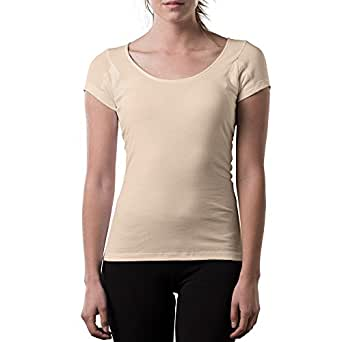 Thompson Tee With Underarm Sweat Pads Original Fit Scoop, Beige, X-Small