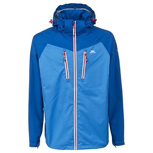 Trespass Boone Mens Waterproof Breathable Rain Jacket With Concealed - Outlets Boone