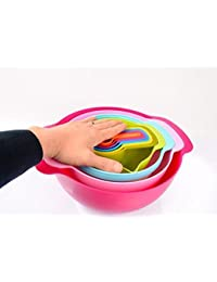 Take 10-Pieces Stackable Collapsible Measuring Bowls/Cups Set - Premium Stackable Cups Bowls Measuring Set for Dry... wholesale