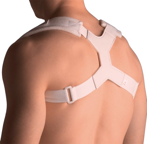 Thermoskin Clavicle Support, White, Large