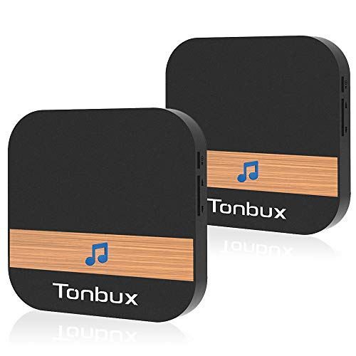 TONBUX Smart Video Doorbell Wireless Home WiFi Security Camera with Indoor Chime, 16GB Storage Card, 2-Way Talk, Night Vision, PIR Motion Detection (Door Chime 2 Pack)