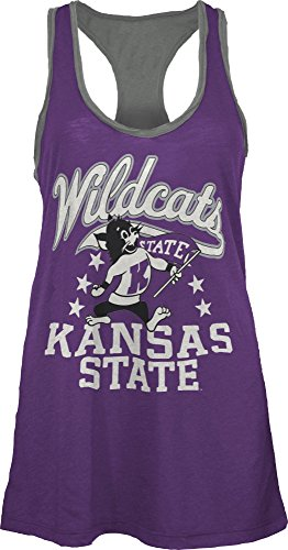 Three Square by Royce Apparel NCAA Kansas State Wildcats Nelly Tank, Medium, (Kansas State Logo Square)