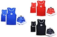 Prime Sports Kids Boxing Set Top & Shorts 2 Pcs Set Satin Fabric for 03-14 Y
