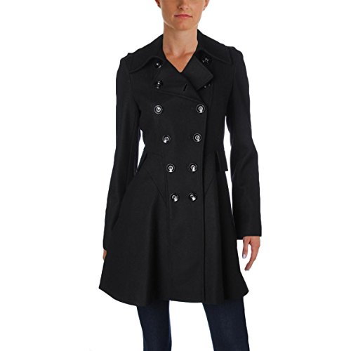 Double Breasted Nylon Trench Coat - 5
