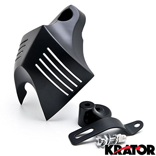 Krator Black Big Twin Horn Cover Stock Cowbell Horns For 2000-2003 Harley Davidson Motorcycles