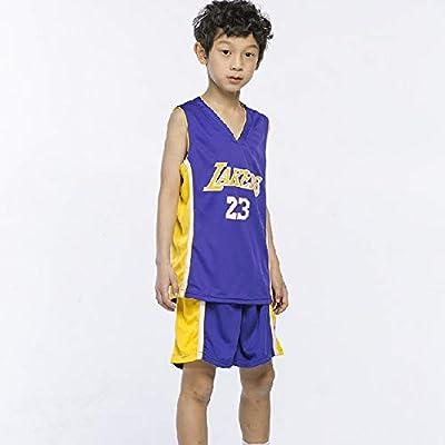 Chicos Cleveland Cavaliers Lebron James # 23 Pantalones Cortos de Baloncesto Camisetas de Verano para niñas Uniforme de Baloncesto Top y Short: Amazon.es: Deportes y aire libre
