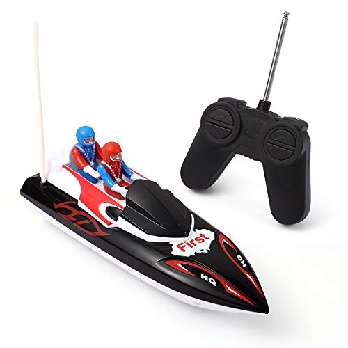 KOLAMAMA Remote Control Boat,RC Boat for Kids&Adults,2.4Ghz 4CH Electric Racing Boat for Pools and Lakes,Kids Boat Toy