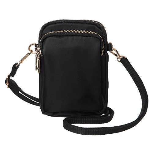 MINICAT Nylon Small Crossbody Bags Cell Phone Purse Smartphone Wallet For Women (Handbag Compact Zipper Wallet)
