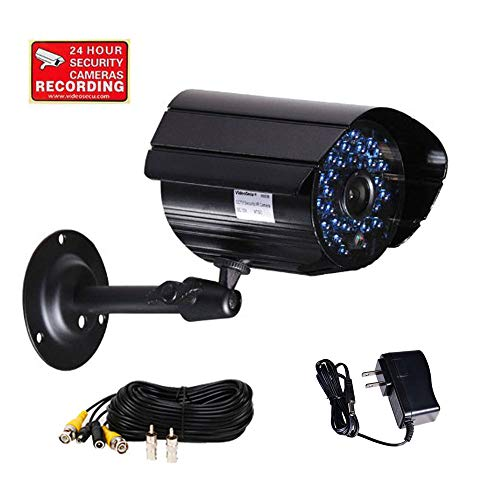 VideoSecu Infrared Day Night Outdoor Bullet Security Camera 520 TVL 36 IR LEDs Built-in Mechanical IR-Cut Filter Switch for CCTV DVR Home Surveillance with Free Power Supply and Cable C4P ()