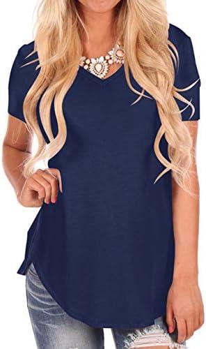 NIASHOT Womens Sleeve V Neck T Shirt product image