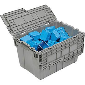 ORBIS Flipak Distribution Container , 21-13/16 x 15-3/16 x 12-7/8, Gray - Lot of 6