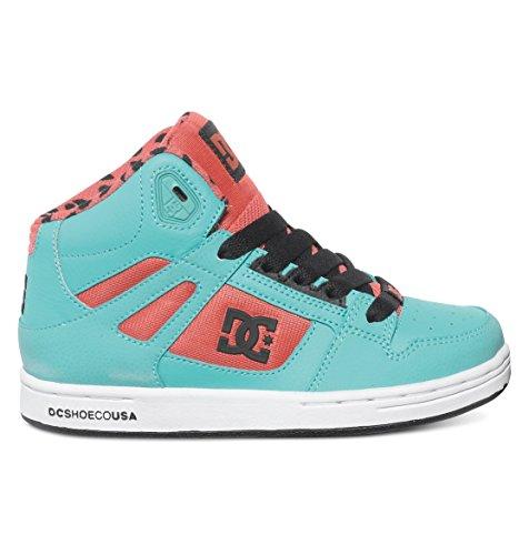 DC Rebound SE Skate Shoe (Little Kid/Big Kid), Watermelon, 2 M US Little Kid