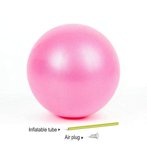 Yoga Pilates Ball 9-10 Inch for Stability Exercise Training Gym Anti Burst and Slip Resistant Balls With Inflatable Straw (Pink) ()