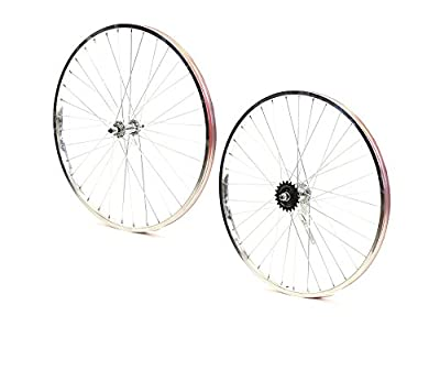 Set of Bicycle Rims (26x25mm; Front & Rear; Chrome)