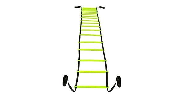 Grazzo Fuerte 20 peldaños Velocidad Escalera de Agilidad 8 m formación práctica Verde 1 Velocidad Escalera: Amazon.es: Deportes y aire libre