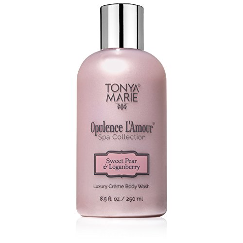 Soft Soap. Body Wash for Women. Moisturizing & Perfumed Bath Wash. Scented Liquid Body & Hand Soap For Dry Skin | Opulence L'Amour Sweet Pear & Loganberry by Tonya Marie | A Luxury | 8.5 fl oz.