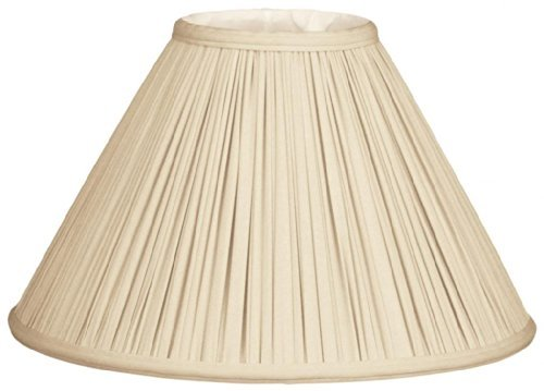 Royal Designs Coolie Empire Gather Pleat Lamp Shade, Beige, 7 x 20 x 12.5 by Royal Designs, Inc