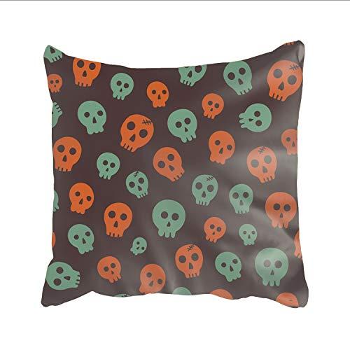 Ranhkdn Throw Pillow Case Halloween Skull Cushion Cover Square Pillowslip for Sleeping for $<!--$6.26-->