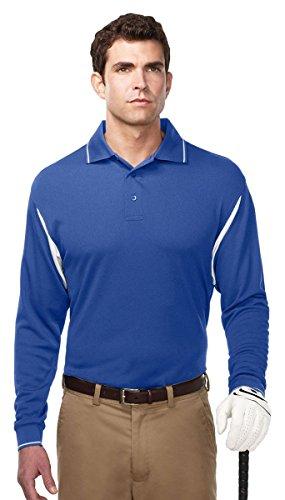 Tri Mountain Mens Long Sleeve Moisture Wicking Waffle Knit Shirt