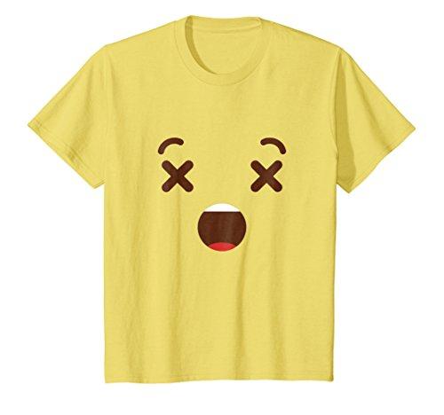 Kids Dizzy Emoji Group Costume Party Idea Emoticon Shirt 10 Lemon -