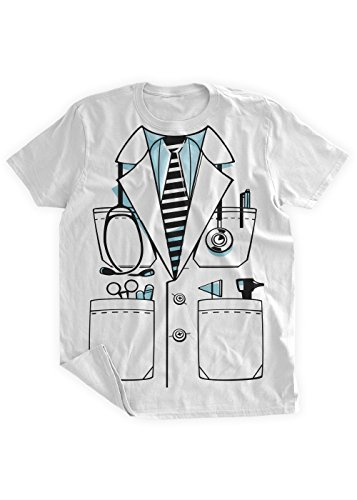 BumpCovers Doctors Lab Coat Costume T-shirt 2XL White